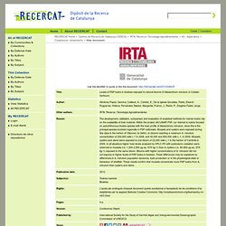 IRTA - 2012 - Levels of PSP toxins in bivalves exposed to natural blooms of Alexandrium minutum in Catalan harbours