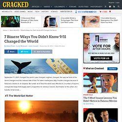 7 Bizarre Ways You Didn't Know 9/11 Changed the World