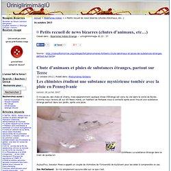 ¤ Petits recueil de news bizarres (chutes d'animaux, etc…) · ÜriniglirimirnäglÜ