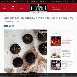 Bizcochitos de cacao y vino tinto. Receta para una merendola