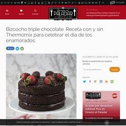 Bizcocho triple chocolate. Receta Thermomix fácil y sencilla