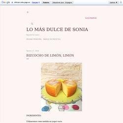 Bizcocho de limón, limón