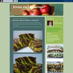 Irene en la cocina: BIZCOCHO CEBRA DE NARANJA Y CHOCOLATE
