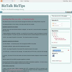 BizTalk BizTips: Sending Flat File over AS2 - A Practical Guide