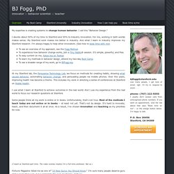 BJ Fogg's Website