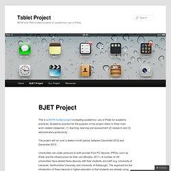BJET iPad Project