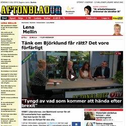 Tänk om Björklund får rätt? Det vore förfärligt