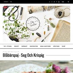 Blåbärspaj - seg och krispig - DIY Sweden