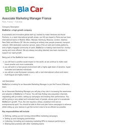BlaBlaCar Associate Marketing Manager France