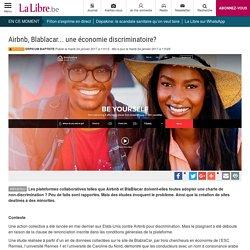 Airbnb, Blablacar... une économie discriminatoire?