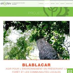 BlaBlaCar / Climat-énergie / Nos projets / Projets / ekodev