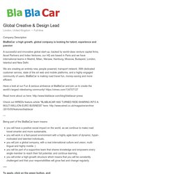 BlaBlaCar Global Creative & Design Lead
