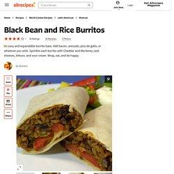 Black Bean and Rice Burritos Recipe