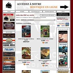 Black Book Éditions • jeux de rôle & jeux de société