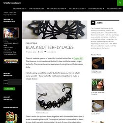 Black Butterfly Laces