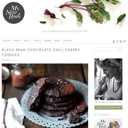 Black Bean Chocolate Chili Cherry Cookies