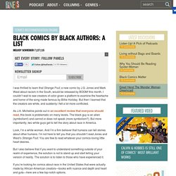 Black Comics by Black Authors: A List