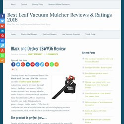 Black and Decker LSWV36 Review 2016
