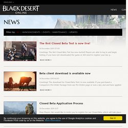 Black Desert Online, the next gen MMORPG