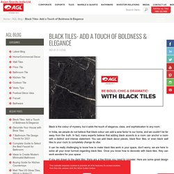 Black Tile Design for Floor & Walls