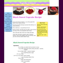 Black Forest Cupcake Recipe