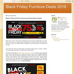 Black Friday Furniture Deals 2016: Black Friday 2016 Furniture and Home Decor Deals