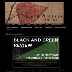 Black and Green Press: Black and Green Review