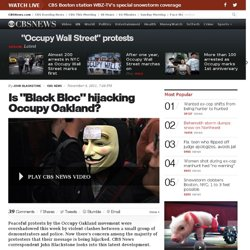 "Is ""Black Bloc"" hijacking Occupy Oakland?"