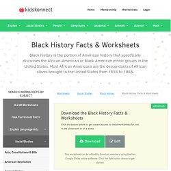 Black History Month 2019 Worksheets