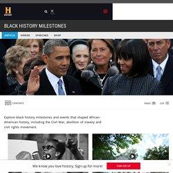 Black History Milestones - Black History