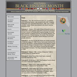 Black History Month 2016 - Facts