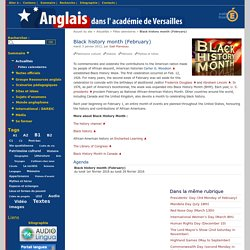 Anglais - Black history month (February)