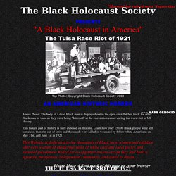 Black Holocaust in America