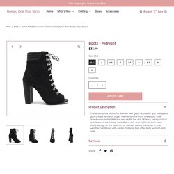 Ladies Black High Heeled Ankle Boots – Reesey One Stop Shop