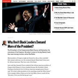 Why Don't Black Leaders Demand More of the President?