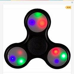 BLACK LED LIGHT FIDGET SPINNER