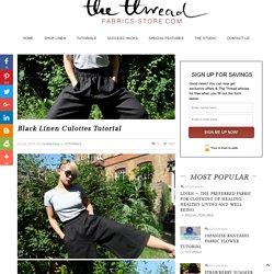 Black Linen Culottes Tutorial