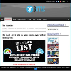 Bufale un tanto al chilo The Black List