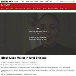 Black Lives Matter in rural England