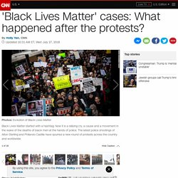 'Black Lives Matter' cases: What happened after the protests?