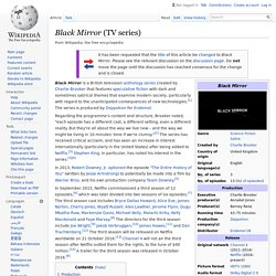 Black Mirror (TV series) - Wikipedia