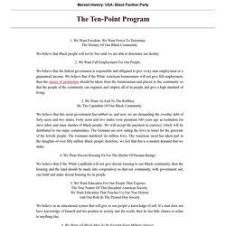 Black Panther's Ten-Point Program