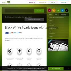 Black White Pearls Icons Alphanumeric