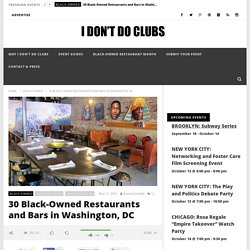 Black Owned Bars and Restaurants in Washington D.C.