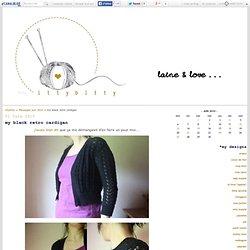 my black retro cardigan - itty-bitty blog !