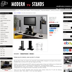 Roma Black Swivel High Gloss TV Stand