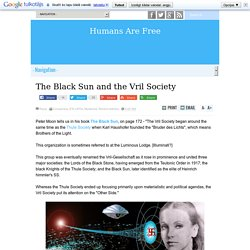 The Black Sun and the Vril Society