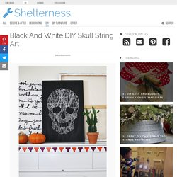 Black And White DIY Skull String Art - Shelterness