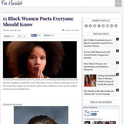 15 Black Women Poets Everyone Should Know