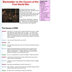 Blackadder on the Causes of World War One